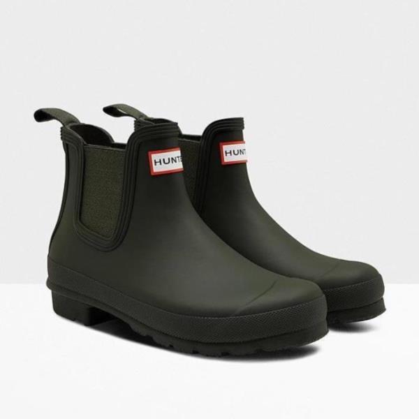 長靴 ブーツ レインブーツ レインシューズ ショートブーツ 防水 雨具 ハンター レディース WFS2006RMA-DOV WOMENS ORG CHELSEA DARK OLIVE ( HUN10555337 ) 【 ハンター 】【QCA04】