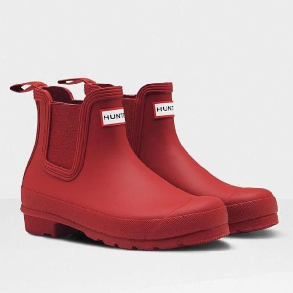 長靴 ブーツ レインブーツ レインシューズ ショートブーツ 防水 雨具 ハンター レディース WFS2006RMA-MLR WOMENS ORG CHELSEA MILITARY RED ( HUN10555341 ) 【 ハンター 】【QCA04】