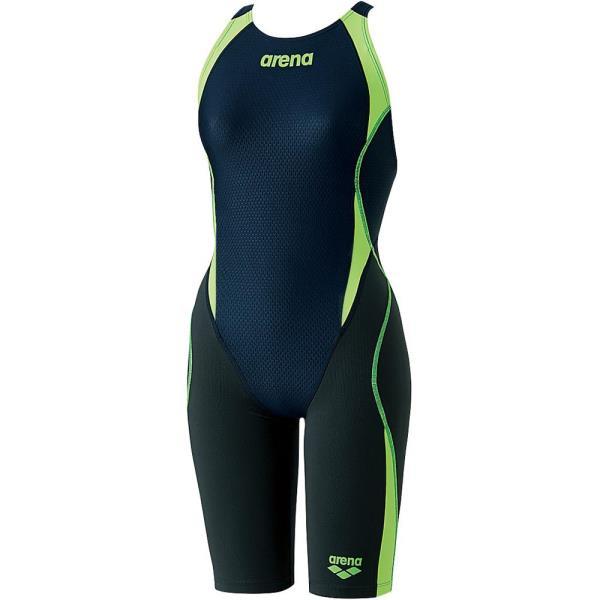 ARN8080WJ-NVGF ジュニアハーフスパッツ アクアハイブリッド ジュニア 競泳用水着 (ARN10567344) 【アリーナ 】【QCA04】