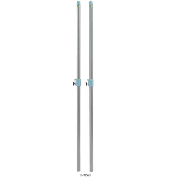 S-3248 バドミントン支柱 差込式 アルミ (SWT10576508) 送料ランク【B】【 三和体育 】