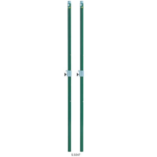 S-3247 バドミントン支柱 差込式 検定品 (SWT10576509) 送料ランク【B】【 三和体育 】