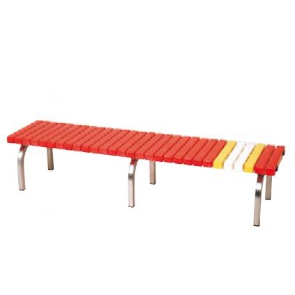 三和体育 SANWATAIKU 椅子 ホームベンチ 赤 S-8390 特殊送料【ランク:お見積り】 【SWT】 【QCA04】