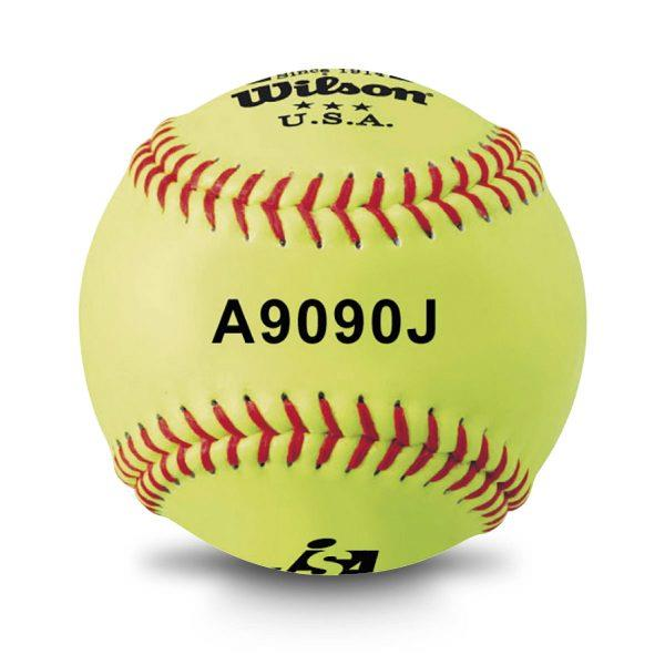 WLWTA9090J ウイルソン 革ソフトボール試合球(12個入)イエロー (WLS10577337) 【 Wilson 】