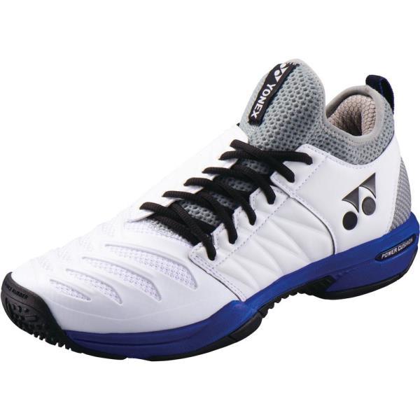 テニスシューズ POWER CUSHION FUSIONREV3 MEN GC ホワイト/オーシャンBL (YNX10636641) 【 ヨネックス 】