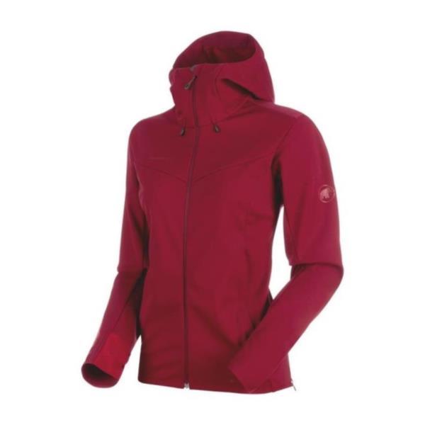 1011-00341-3496-L Ultimate V SO Hooded Jacket AF Women beet-beet melange L (MAT10664212) 【 MAMMUT 】