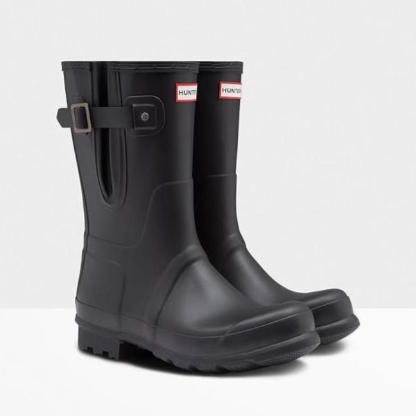 長靴 ブーツ レインブーツ レインシューズ ショートブーツ 防水 雨具 ハンター メンズ MFS9079RMA-BLK MENS ORIGINAL SIDE ADJ SHORT BLACK ( HUN10673588 ) 【 ハンター 】【QBJ38】