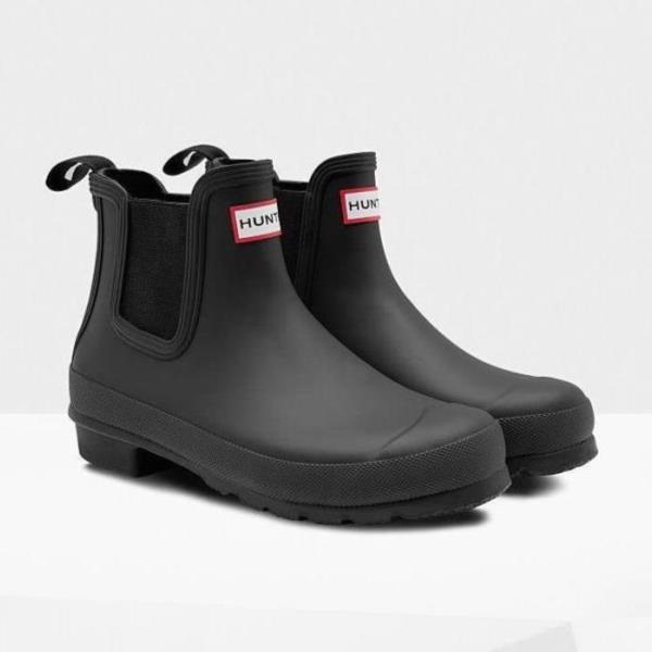 長靴 ブーツ レインブーツ レインシューズ ショートブーツ 防水 雨具 ハンター レディース WFS2006RMA-BLK WOMENS ORIGINAL CHELSEA BLACK ( HUN10673646 ) 【 ハンター 】【QCA04】