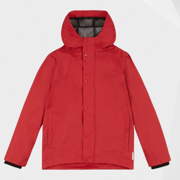 KIDS ORI LW RUBBERISED JACKET MILITARY RED (HUN10673725) 【 ハンター 】