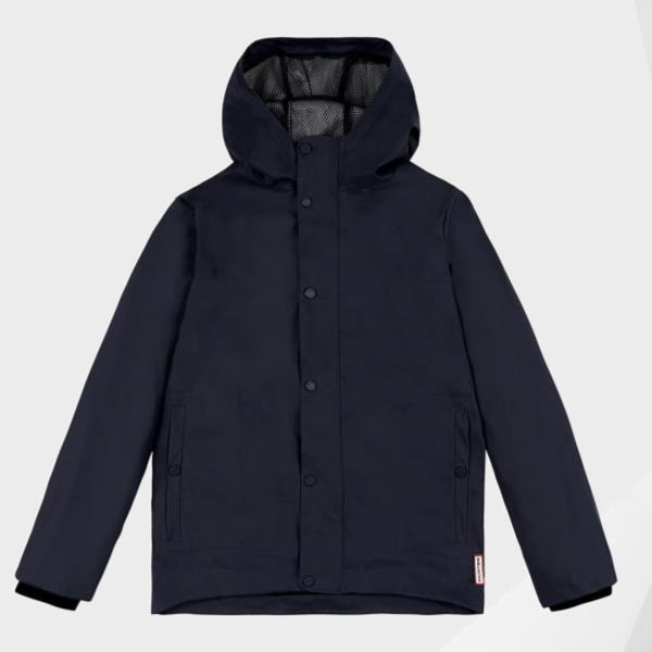 KIDS ORI LW RUBBERISED JACKET NAVY (HUN10673728) 【 ハンター 】