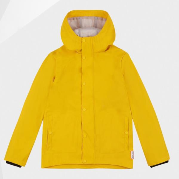 KIDS ORI LW RUBBERISED JACKET YELLOW (HUN10673734) 【 ハンター 】