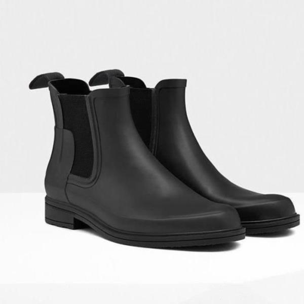 長靴 レインブーツ ショートブーツ レインウェア 雨具 ハンター メンズ MFS9060RMA-BLK-11 M ORG REFINED CHELSEA BLACK 11 ( HUN10673907 ) 【 ハンター 】【QBJ38】