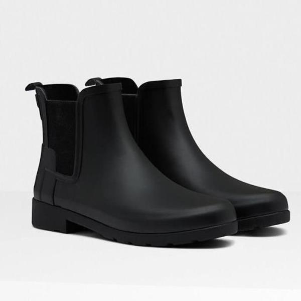 長靴 レインブーツ ショートブーツ レインウェア 雨具 ハンター レディース WFS1017RMA-BLK-7 W ORG REFINED CHELSEA BLACK 7 ( HUN10673910 ) 【 ハンター 】【QCA04】