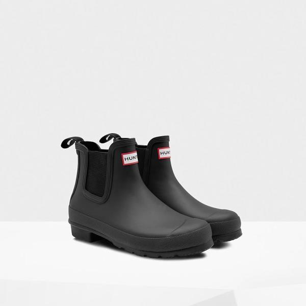 長靴 ブーツ レインブーツ レインシューズ ショートブーツ 防水 雨具 ハンター レディース WFS2006RMA-BLK-4 WOMENS ORIGINAL CHELSEA BLACK 4 ( HUN10690591 ) 【 ハンター 】【QCA04】