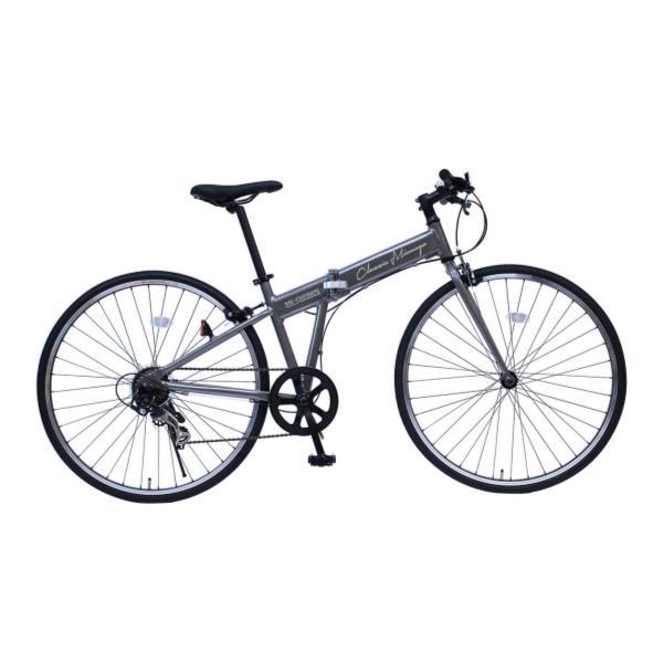 自転車 折りたたみ自転車 自転車 折りたたみ MG-CM7007C ClassicMimugo FDB700 7SG ガンメタリック【MMG】