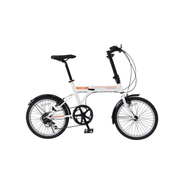 自転車 折りたたみ自転車 自転車 折りたたみ MG-G206NF-WH ACTIVEPLUS911 ノーパンクFDB20 6SF ホワイト【MMG】