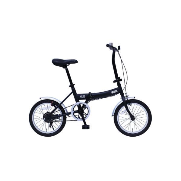 自転車 シボレー 折りたたみ自転車 自転車 折りたたみ MG-CV16G CHEVROLET FDB16G ブラック【MMG】