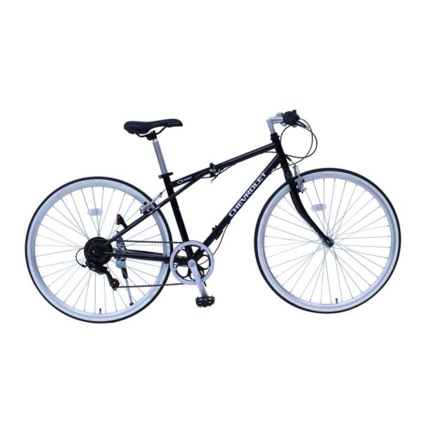 自転車 シボレー 折りたたみ自転車 自転車 折りたたみ MG-CV7006G CHEVROLET FD-CRB700C6SG ブラック【MMG】【QCA04】