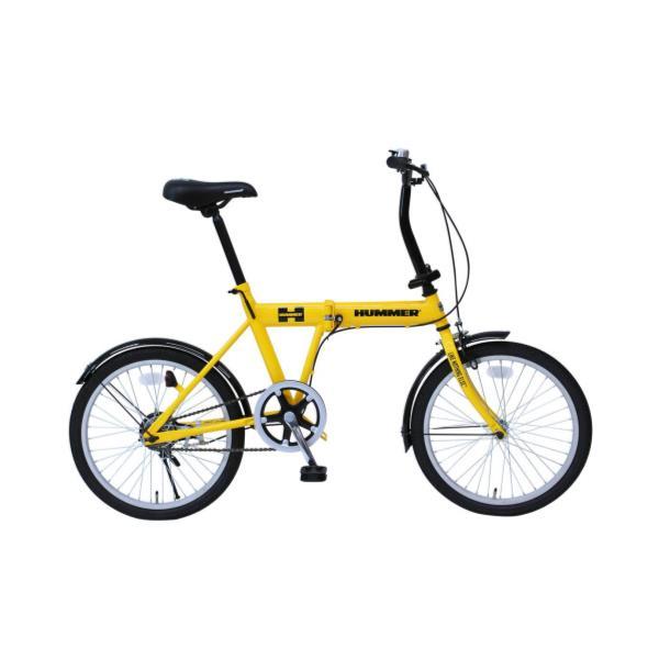 自転車 ハマー 折りたたみ自転車 自転車 折りたたみ MG-HM20G HUMMER FDB20SG イエロー【MMG】