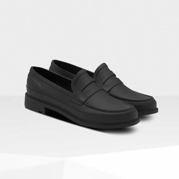 ローファー 靴 くつ シューズ ハンター メンズ MFF9107RMA-BLK MENS REFINED PENNY LOAFER BLACK ( HUN10693396 ) 【 ハンター 】【QCA04】