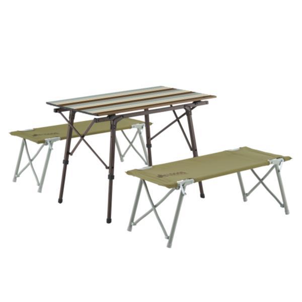 バーベキューテーブル 机 椅子 セット 机 おしゃれ #73188002 LOGOS Life オートレッグベンチテーブルセット4 ヴィンテージ【HN】