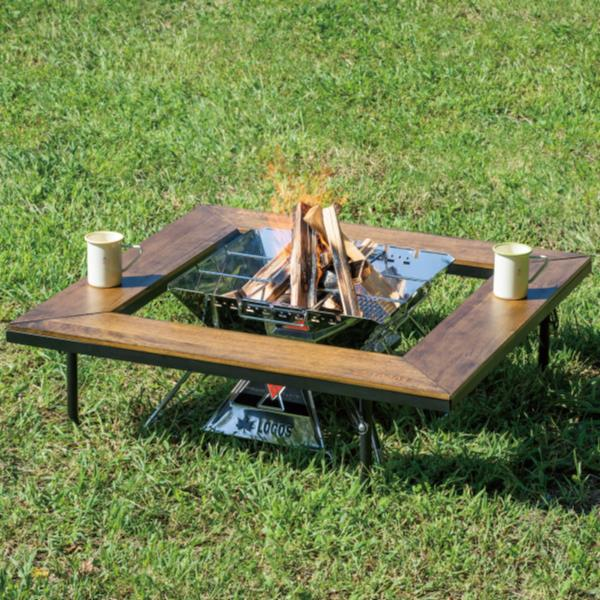 バーベキューテーブル アイアンウッド囲炉裏テーブル【HN】 机 #81064133 おしゃれ 机 キャンプ