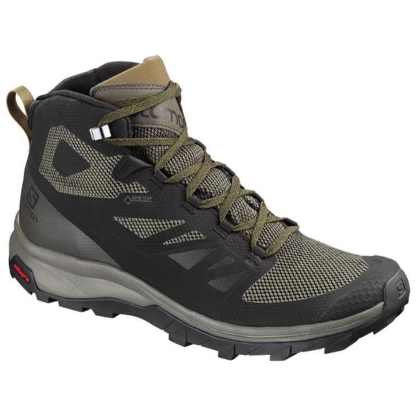 トレッキングシューズ メンズ ブーツ メンズ 登山靴 メンズ OUTline MID GORE-TEX BLACK/BELUGA/CAPERS【SAM】