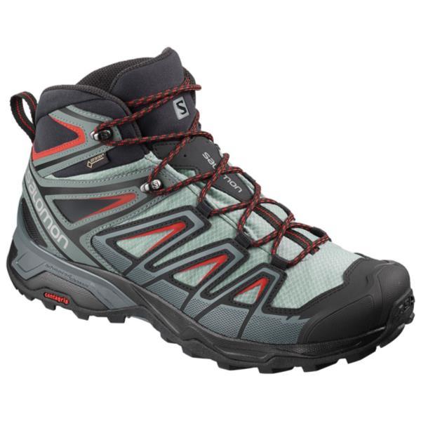 トレッキングシューズ メンズ ブーツ メンズ 登山靴 メンズ X ULTRA 3 MID GORE-TEX LEAD/STORMY WEATHER/BOSSA NOVA【SAM】【QBJ38】