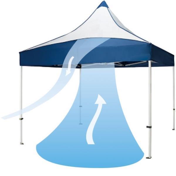テント ワンタッチ テント 大型 クイックテントエアフロー3.0×3.0 EKA876-90(白) 特殊送料【ランク:G】 【ENW】 【QCA04】
