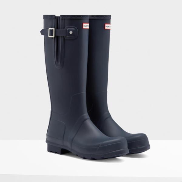 長靴 ブーツ レインブーツ レインシューズ ロングブーツ 防水 ハンター メンズ MFT9007RMA-NVY M ORG SIDE ADJUSTABLE NAVY ( HUN10721603 ) 【 ハンター 】【QCA04】