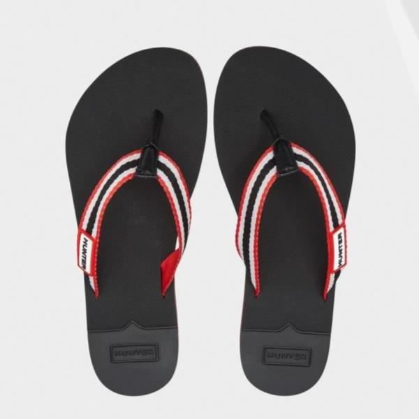 サンダル ビーチサンダル 靴 くつ ビーサン ハンター レディース WFD4024WEB-RWB W ORIG BEACH FLIP FLOP HUNTER RED/WHITE/BLACK ( HUN10721660 ) 【 ハンター 】【QBJ38】