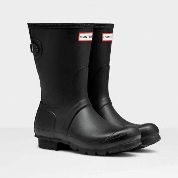 長靴 ブーツ レインブーツ レインシューズ ショートブーツ 防水 ハンター レディース WFS1013RMA-BLK ORIG BACK ADJ SHORT BLACK ( HUN10721708 ) 【 ハンター 】【QCA04】