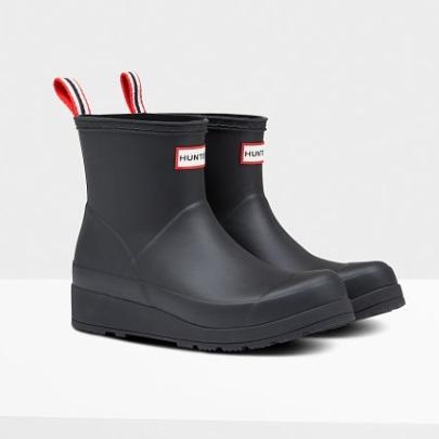 長靴 ブーツ レインブーツ レインシューズ ショートブーツ 防水 ハンター レディース WFS2020RMA-BLK ORIGINAL PLAY BOOT SHORT BLACK ( HUN10721732 ) 【 ハンター 】【QCA04】