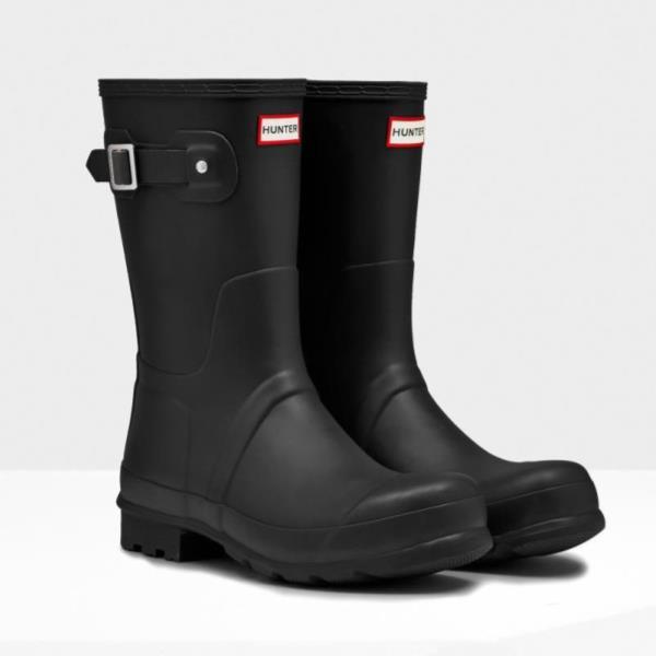 長靴 ブーツ レインブーツ レインシューズ ショートブーツ 防水 ハンター メンズ MFS9000RMA-BLK-12 MENS ORIGINAL SHORT BLACK 12 ( HUN10721873 ) 【 ハンター 】【QCA04】