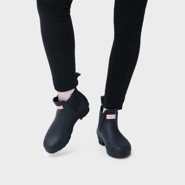 長靴 ブーツ レインブーツ レインシューズ ショートブーツ 防水 雨具 ハンター レディース WFS2006RMA-NVY-5 WOMENS ORIGINAL CHELSEA NAVY 5 ( HUN10721920 ) 【 ハンター 】【QCA04】