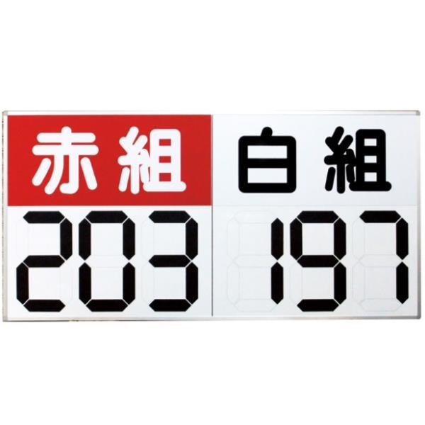 得点盤 スコアボード 体育用品 S-4030 運動会用マグネット反転式得点板 紅白【SWT】【QCA04】