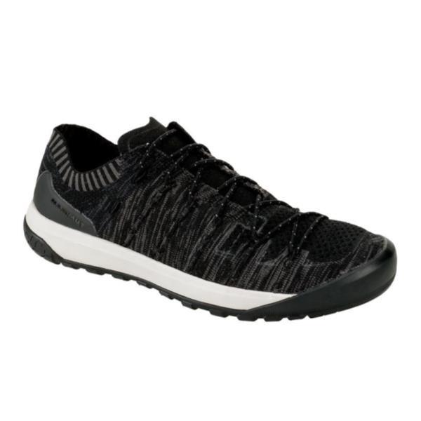 スニーカー メンズ トレッキングシューズ メンズ 登山靴 メンズ HUECO KNIT LOW MEN BLACK-TITANI【MAT】【QCA04】