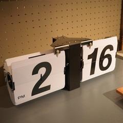 東谷 時計 置時計 CLK-118WH フリップクロック【AZM】【QBJ38】