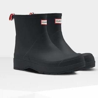 長靴 ブーツ レインブーツ レインシューズ ショートブーツ 防水 ハンター メンズ MFS9088RMA-BLK MENS ORIGINAL PLAY BOOT SHORT BLACK ( HUN10782160 ) 【 ハンター 】【QCA04】