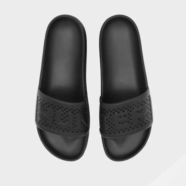 サンダル ビーチサンダル スリッパ 靴 くつ おしゃれ ハンター メンズ MFD9015EVA M ORG L WEIGHT MOULDED SLIDE BLACK ( HUN10789903 ) 【 ハンター 】【QBJ38】