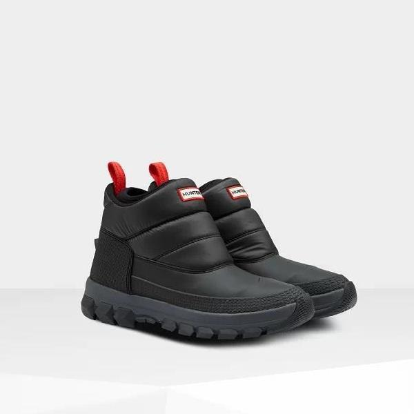 長靴 ブーツ スノーブーツ レインブーツ レインシューズ 防水 雨具 ハンター メンズ MFS9104WWU M ORG INSULATED SNOW ANKLE BT BLACK ( HUN10789911 ) 【 ハンター 】【QCA04】