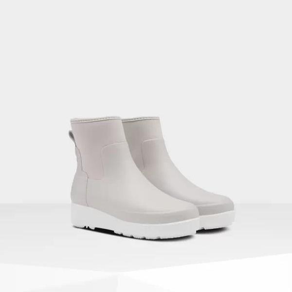 長靴 ブーツ レインブーツ レインシューズ 防水 雨具 ハンター レディース WFS2046NRE W REFINED CREEPER NEO CHELSEA CLATTER GREY ( HUN10789948 ) 【 ハンター 】【QBJ38】
