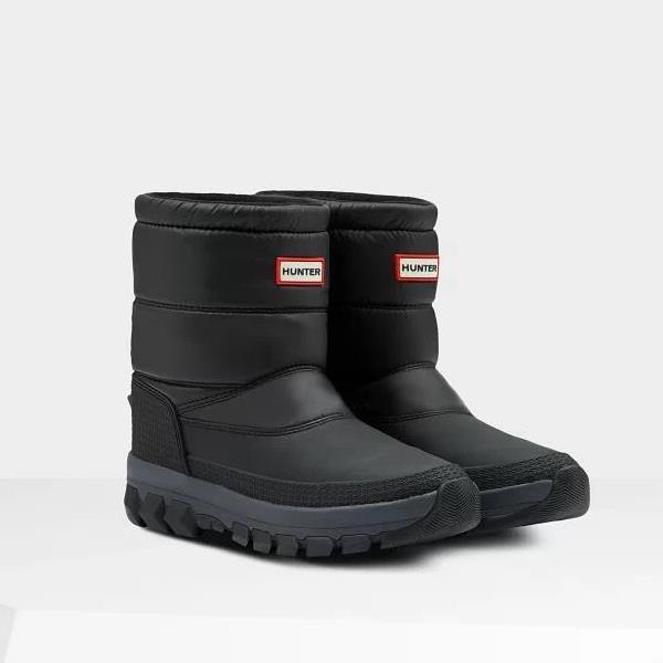 長靴 ブーツ スノーブーツ レインブーツ レインシューズ 防水 雨具 ハンター レディース WFS2066WWU W ORG INSULATED SNOW BT SHORT BLACK ( HUN10789975 ) 【 ハンター 】【QCA04】