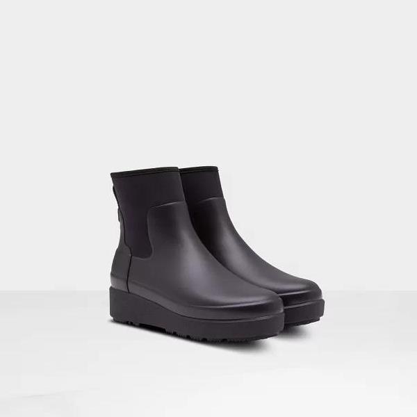 長靴 ブーツ レインブーツ レインシューズ ショートブーツ 防水 雨具 ハンター レディース WFS2046NRE W REFINED CREEPER NEO CHELSEA BLACK 6 ( HUN10790007 ) 【 ハンター 】【QCA04】