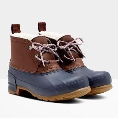 長靴 レディース レインブーツ レディース レインシューズ レディース WOMENS ORIGINAL PAC BOOT SHORT BURNT SIENNA / NAVY 【HUN】