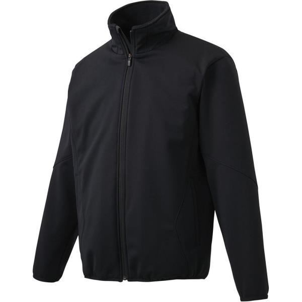 ジャージ メンズ ジャケット メンズ アウター メンズ ボンディングストレッチコート ブラック 【DES】【QCA04】