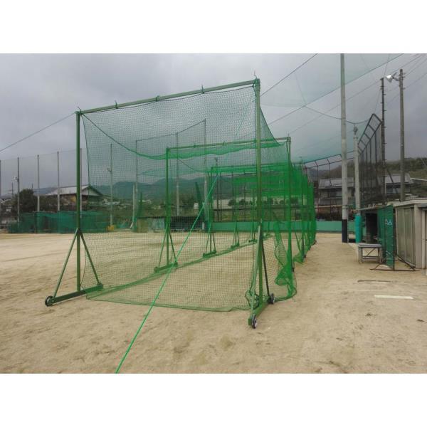 防球ネット ネット 野球 D8054 鳥カゴゲージ(移動式) D-8054 特殊送料【ランク:お見積り】 【DAN】 【QCA25】