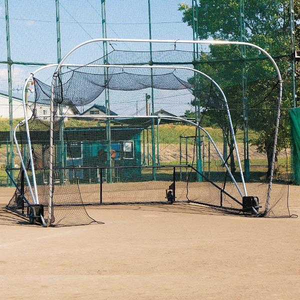 野球ネット ゲージ 野球 防球ネット S-4990 バッティングケージ ハイブリッド仕様 送料【お見積】【SWT】【QCA25】