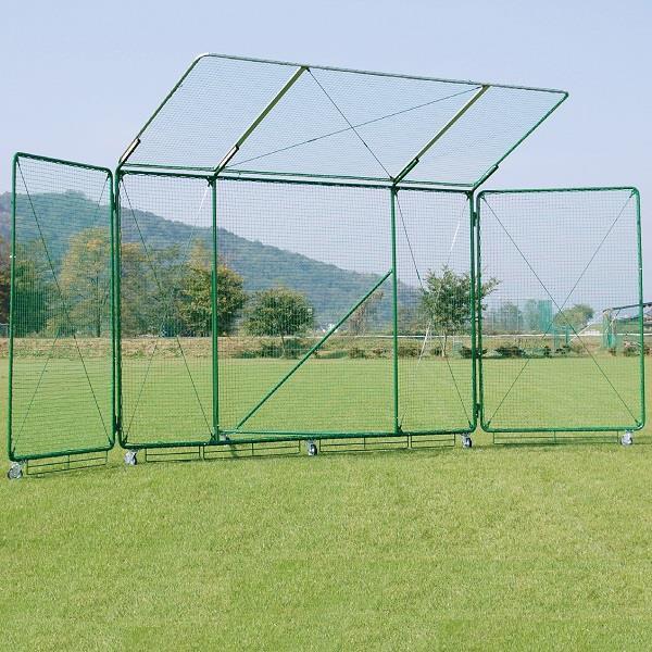 野球ネット バッグネット 防球ネット S-4991 バックネット 9×4 移動式 ひさし付 送料【お見積】【SWT】