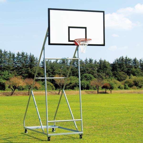 バスケットゴール バスケ ゴール バスケ 学校用 S-9364 バスケットゴール 一般用 移動式 150mmキャスターストッパー付 送料【お見積】【SWT】【QCA25】