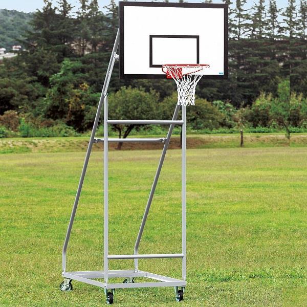 バスケットゴール バスケ ゴール バスケ 学校用 S-9366 バスケットゴール ジュニア用 移動式 150mmキャスターストッパー付 送料【お見積】【SWT】【QCA25】